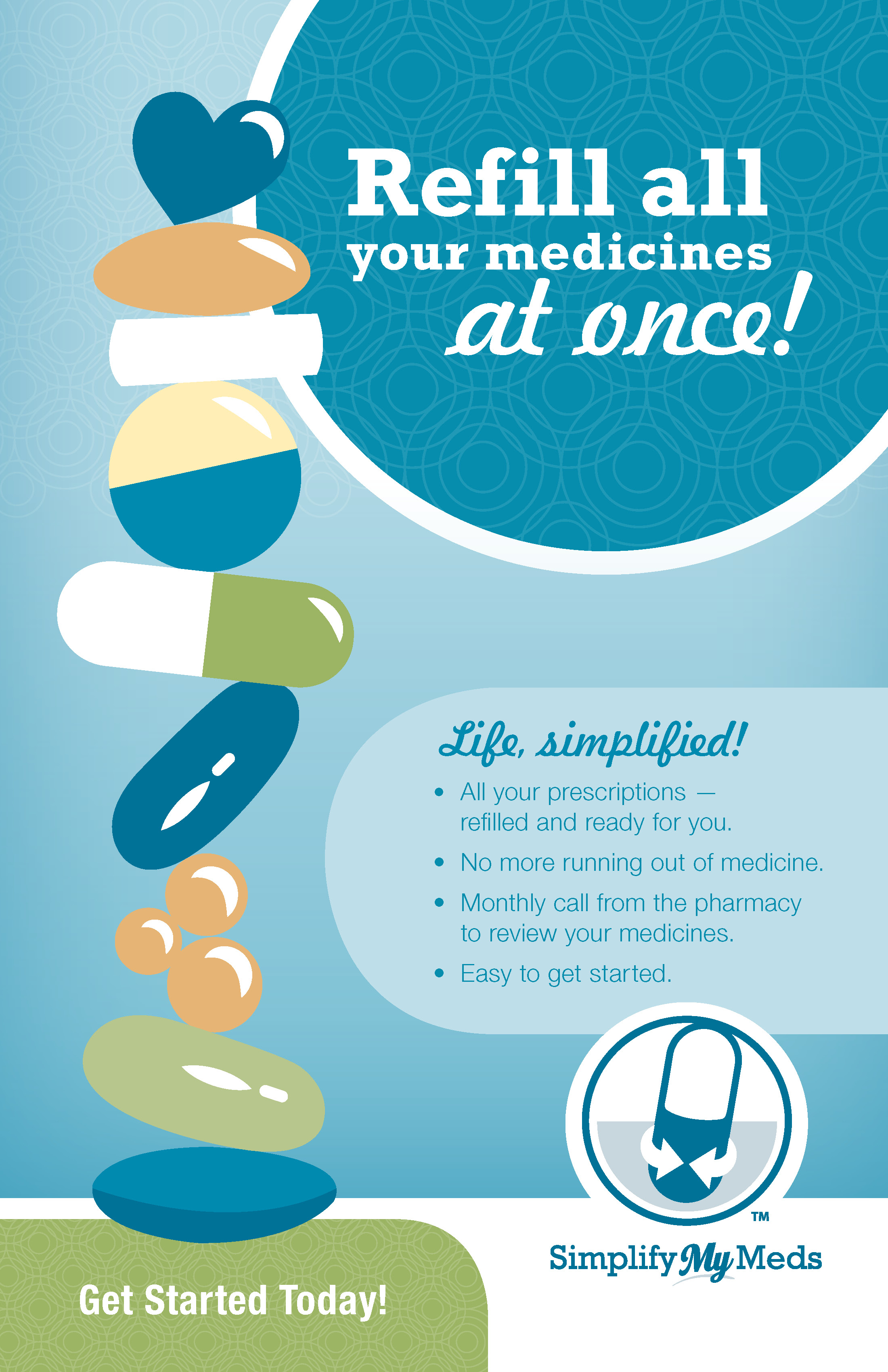Simplify My Meds® Poster - 1 in pack