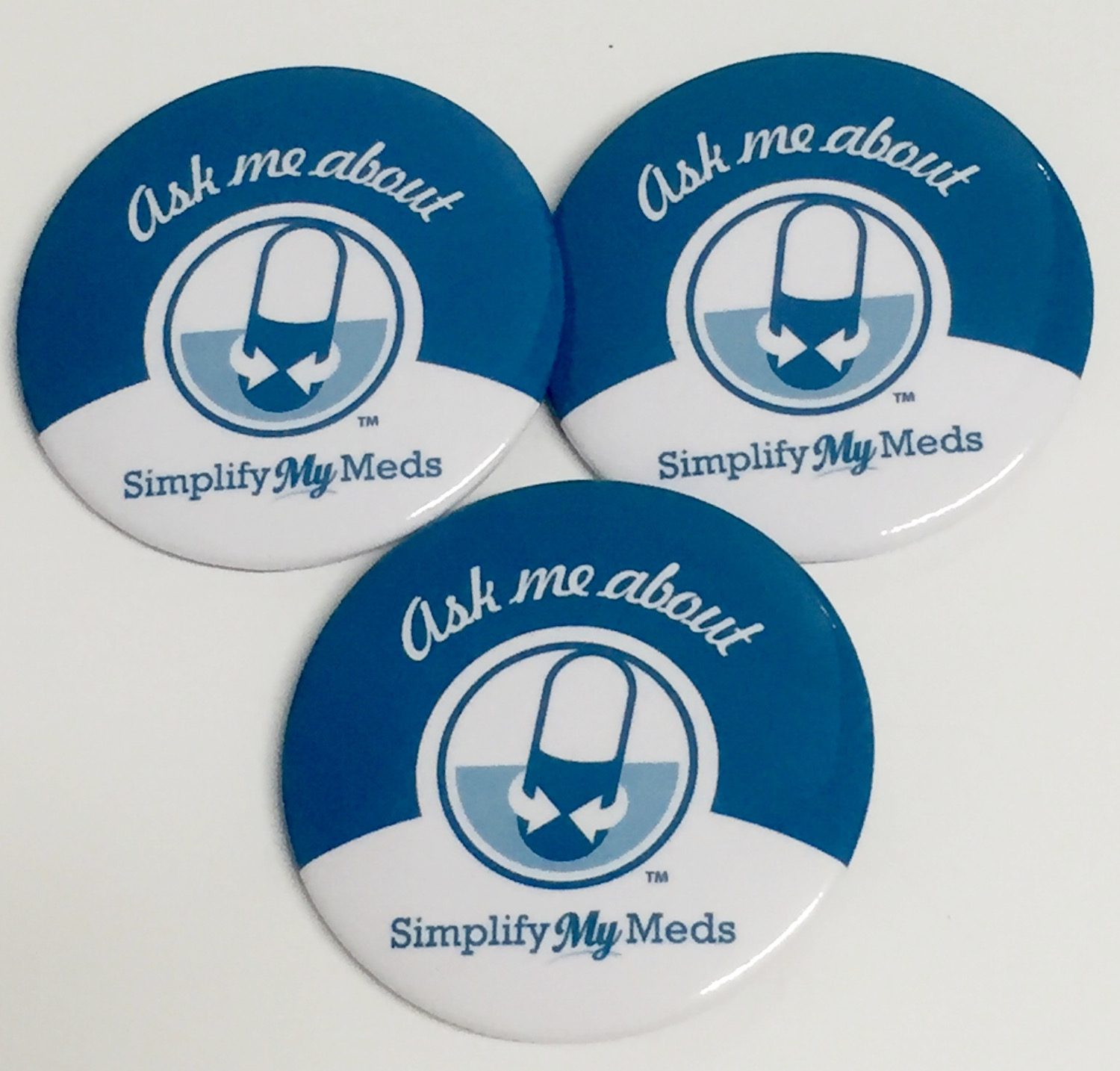 Simplify My Meds® Buttons - 3 Per Pack
